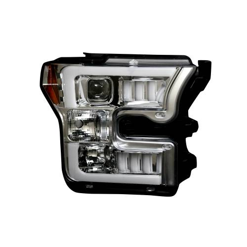 Recon Truck Accessories - 264290CLC | (Replaces OEM Halogen Style Head Lights Only) PROJECTOR HEADLIGHTS – Clear / Chrome