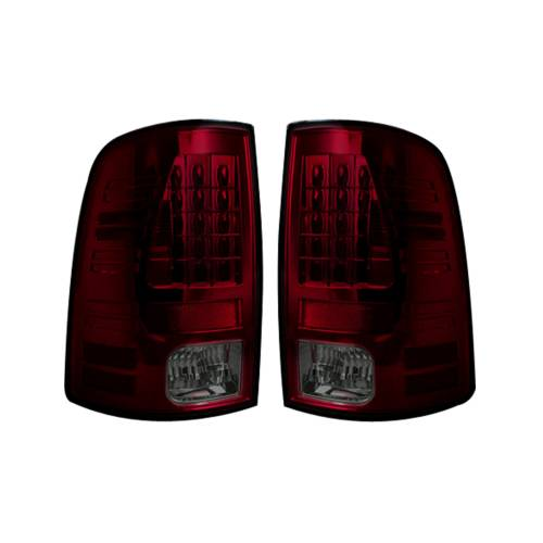 Lighting - LED Tail Lights - Recon Truck Accessories - 264169RBK | LED TAIL LIGHTS (Replaces Factory OEM Halogen Tail Lights) – Dark Red Smoked Lens