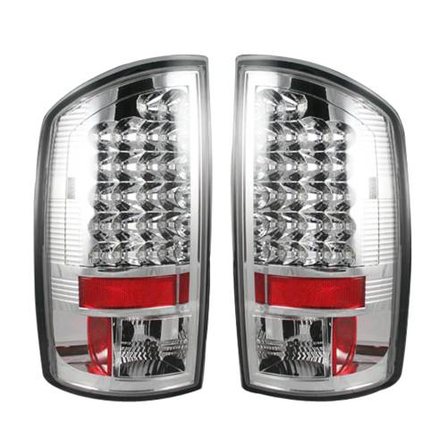 Lighting - LED Tail Lights - Recon Truck Accessories - 264171CL | LED Tail Lights – Clear Lens
