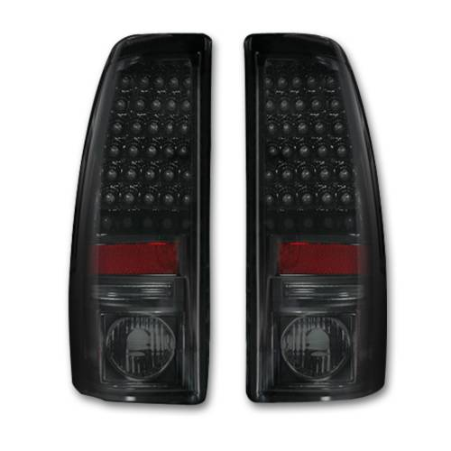 Lighting - LED Tail Lights - Recon Truck Accessories - 264173BK | LED TAIL LIGHTS – Smoked Lens