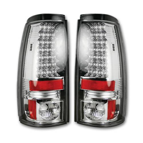 Lighting - LED Tail Lights - Recon Truck Accessories - 264173CL | LED TAIL LIGHTS – Clear Lens