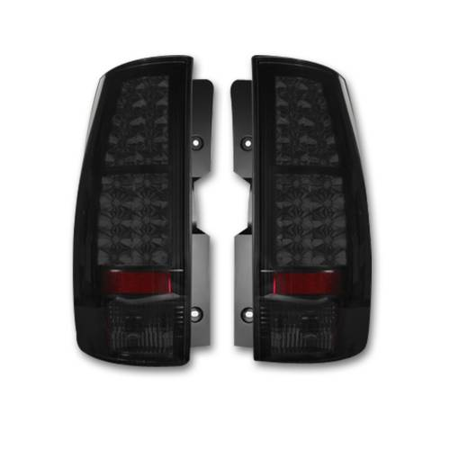 Lighting - LED Tail Lights - Recon Truck Accessories - 264174BK | LED TAIL LIGHTS – Smoked Lens