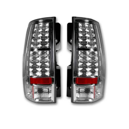 Lighting - LED Tail Lights - Recon Truck Accessories - 264174CL | LED TAIL LIGHTS – Clear Lens