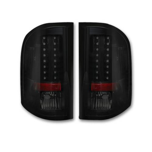 Lighting - LED Tail Lights - Recon Truck Accessories - 264175BK | LED TAIL LIGHTS – Smoked Lens