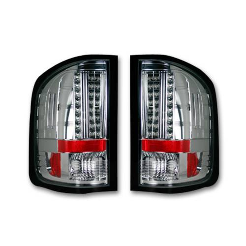 Lighting - LED Tail Lights - Recon Truck Accessories - 264175CL | LED TAIL LIGHTS – Clear Lens