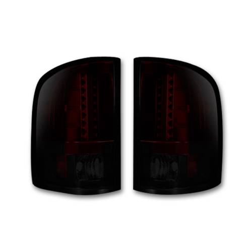 Lighting - LED Tail Lights - Recon Truck Accessories - 264175RBK | LED TAIL LIGHTS – Red Smoked Lens