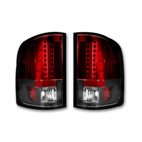 Lighting - LED Tail Lights - Recon Truck Accessories - 264175RD | LED TAIL LIGHTS – Red Lens