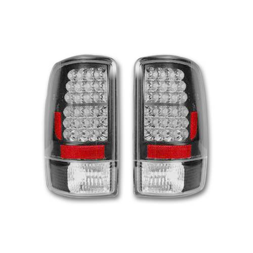 Lighting - LED Tail Lights - Recon Truck Accessories - 264177BK | LED TAIL LIGHTS – Smoked Lens