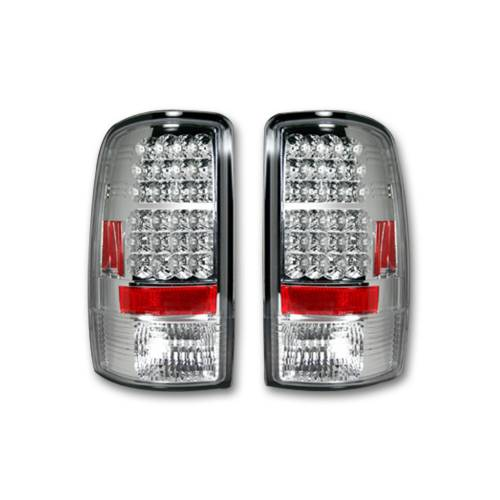 Lighting - LED Tail Lights - Recon Truck Accessories - 264177CL | LED TAIL LIGHTS – Clear Lens