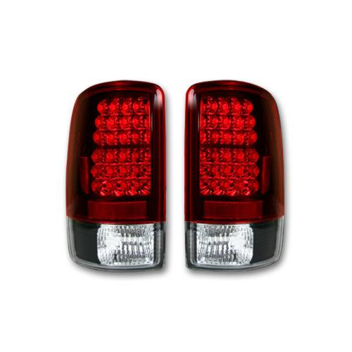 Lighting - LED Tail Lights - Recon Truck Accessories - 264177RD | LED TAIL LIGHTS – Red lens