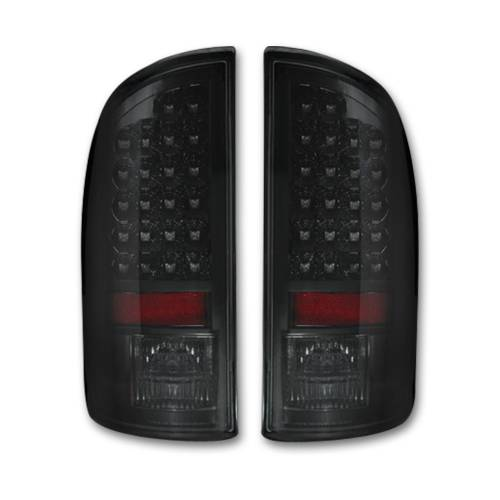 Lighting - LED Tail Lights - Recon Truck Accessories - 264179BK | LED TAIL LIGHTS – Smoked Lens