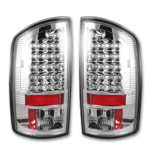 Lighting - LED Tail Lights - Recon Truck Accessories - 264179CL | LED TAIL LIGHTS – Clear Lens