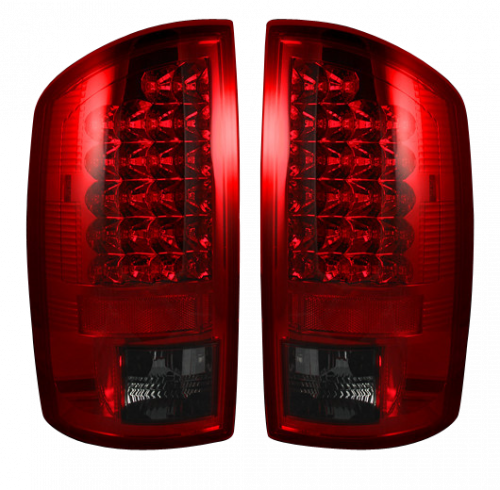 Lighting - LED Tail Lights - Recon Truck Accessories - 264179RBK | LED TAIL LIGHTS – Dark Red Smoked Lens