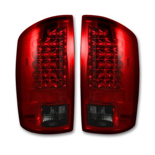Lighting - LED Tail Lights - Recon Truck Accessories - 264179RD | LED TAIL LIGHTS – Red Lens