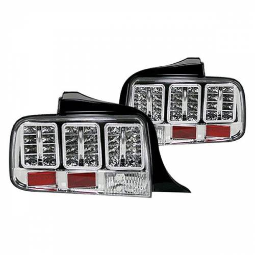 Lighting - LED Tail Lights - Recon Truck Accessories - 264187CL | LED TAIL LIGHTS – Clear Lens