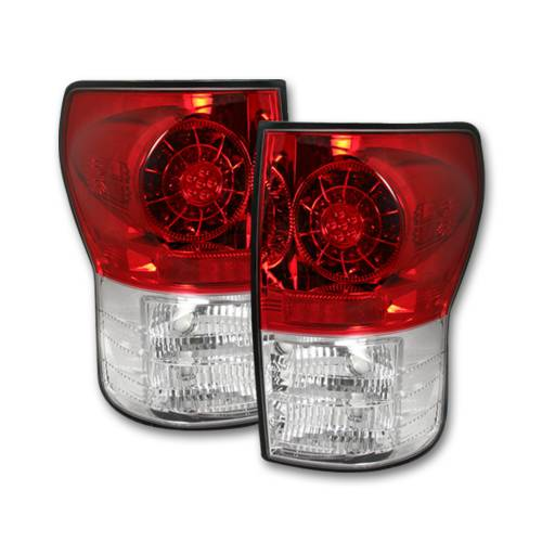 Lighting - LED Tail Lights - Recon Truck Accessories - 264188RD   LED Taillights – Red Lens