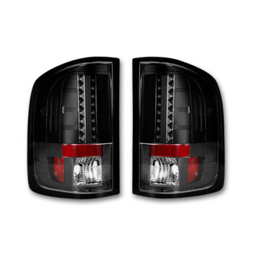 Lighting - LED Tail Lights - Recon Truck Accessories - 264189BK   LED Tail lights - Smoked Lens