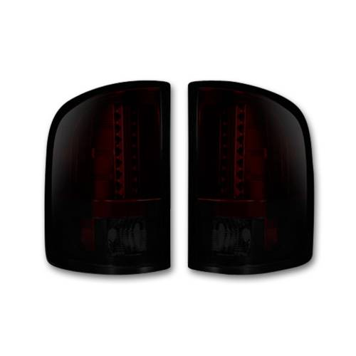 Lighting - LED Tail Lights - Recon Truck Accessories - 264189RBK   LED Tail lights - Dark Red Smoked Lens