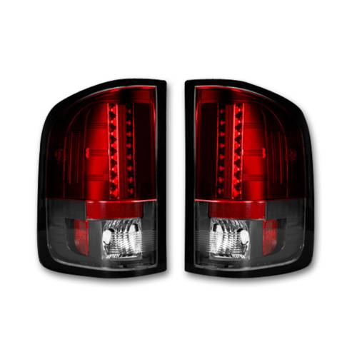 Lighting - LED Tail Lights - Recon Truck Accessories - 264189RD | LED Tail lights - Red Lens