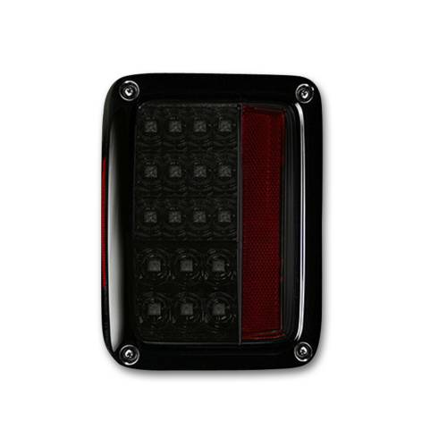 Lighting - LED Tail Lights - Recon Truck Accessories - 264234BK   LED Taillights – Smoked Lens