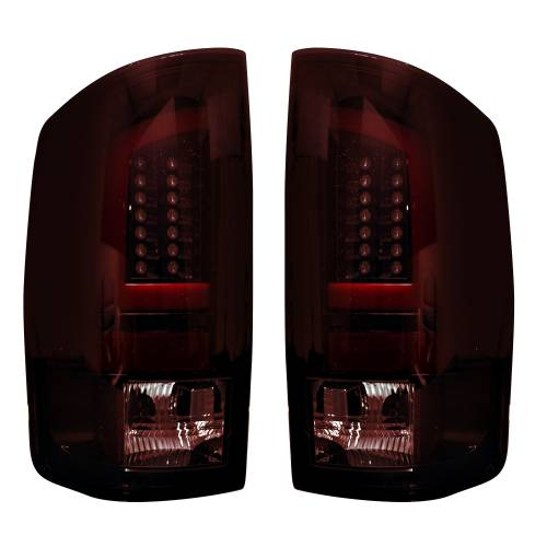 Lighting - LED Tail Lights - Recon Truck Accessories - 264371RBK | OLED Tail Lights – Dark Red Smoked Lens