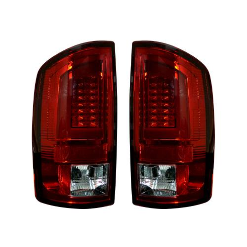 Lighting - LED Tail Lights - Recon Truck Accessories - 264371RD | OLED Tail Lights – Red Lens