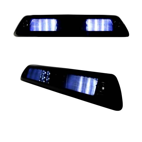 Lighting - LED Third Brake Lights - Recon Truck Accessories - 264111BK | Red LED 3rd Brake Light Kit w/ White LED Cargo Lights – Smoked Lens