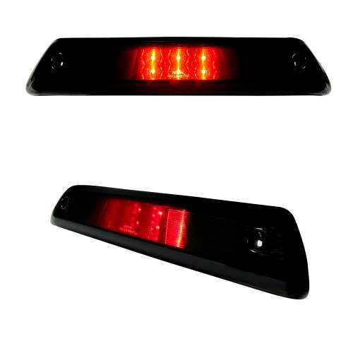 Recon Truck Accessories - 264111BK | Red LED 3rd Brake Light Kit w/ White LED Cargo Lights – Smoked Lens - Image 3