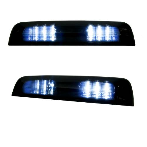 Recon Truck Accessories - 264115BK | Red LED 3rd Brake Light Kit w/ White LED Cargo Lights – Smoked Lens - Image 3
