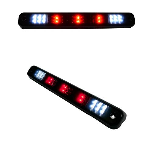 Recon Truck Accessories - 264123BK | Red LED 3rd Brake Light Kit w/ White LED Cargo Lights – Smoked Lens - Image 3