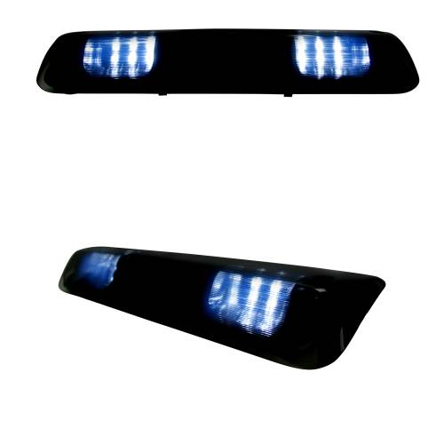 Lighting - LED Third Brake Lights - Recon Truck Accessories - 264124BK | Red LED 3rd Brake Light Kit w/ White LED Cargo Lights – Smoked Lens