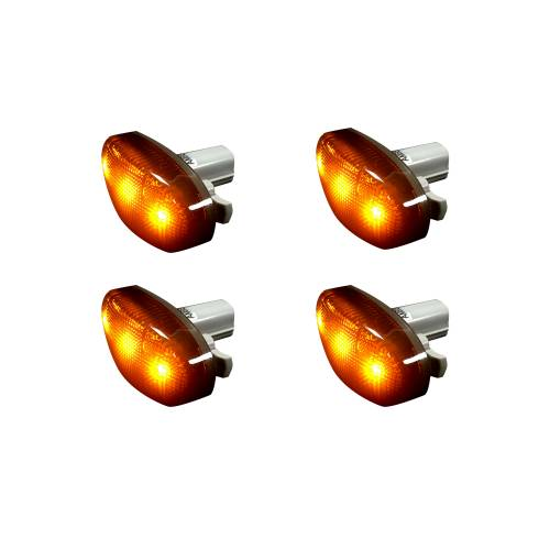 Recon Truck Accessories - 264136BK | Dually Fender Lenses (4-Piece Set) w/ 2 Red LED Lights & 2 Amber LED Lights – Smoked Lens - Image 2