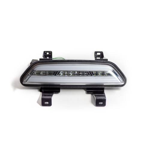 Lighting - Mirror & Marker Lights - Recon Truck Accessories - 264144CL | Rear Lower Bumper Center Mounted Reverse & Running/Brake Light Kit – Clear Lens