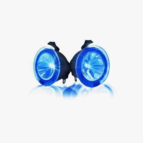 Recon Truck Accessories - 264242BL | Ultra High Power LED Mirror / Puddle Light Kit – BLUE