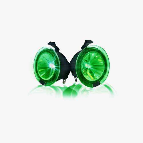 Recon Truck Accessories - 264242GR | Ultra High Power LED Mirror / Puddle Light Kit – GREEN