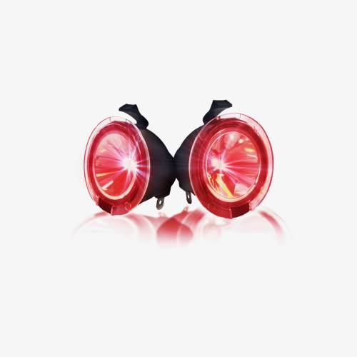 Lighting - Mirror & Marker Lights - Recon Truck Accessories - 264242RD | Ultra High Power LED Mirror / Puddle Light Kit – RED
