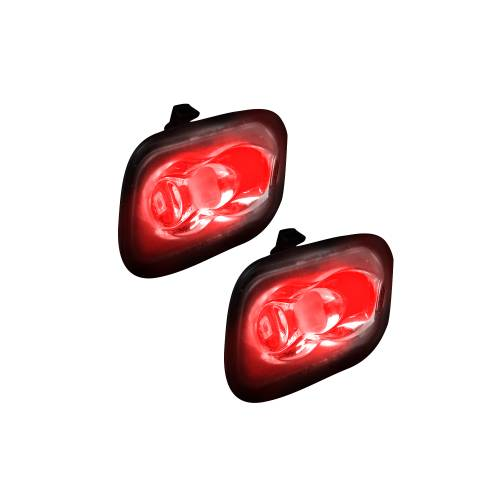 Lighting - Mirror & Marker Lights - 264243RD | Ultra High Power LED Mirror / Puddle Light Kit – RED