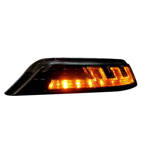 Lighting - Mirror & Marker Lights - Recon Truck Accessories - 264147CL | Front Lower Bumper Corner Mounted White LED Running Light & Amber LED Turn Signal – Clear Lens
