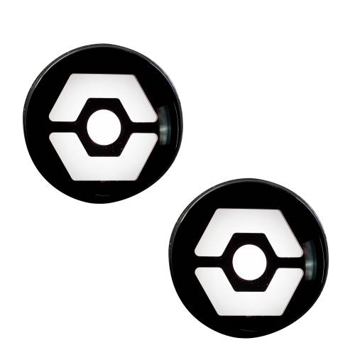 Lighting - Mirror & Marker Lights - Recon Truck Accessories - 264334WHBK | Round Front Turn Signal Lenses with White Hexagon-Shaped OLED Design Located Under Front Headlights – Smoked Lens