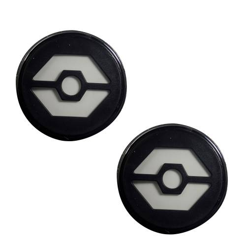 Lighting - Mirror & Marker Lights - Recon Truck Accessories - 264134WHBK | Round Front Turn Signal Lenses with White LED's Located Under Front Headlights – Smoked Lens