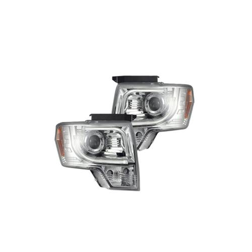 Lighting - Headlights - Recon Truck Accessories - 264190CLC | PROJECTOR HEADLIGHTS w/ Ultra High Power Smooth OLED HALOS & DRL