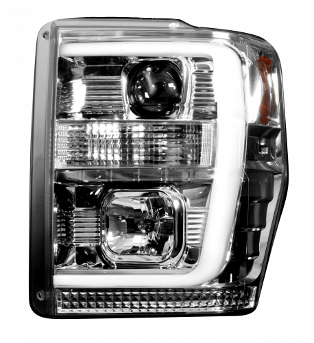 Lighting - Headlights - Recon Truck Accessories - 264196CL | PROJECTOR HEADLIGHTS – Clear / Chrome