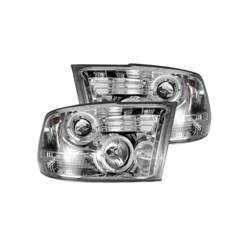 Lighting - Headlights - Recon Truck Accessories - 264270CL | PROJECTOR HEADLIGHTS – Clear / Chrome