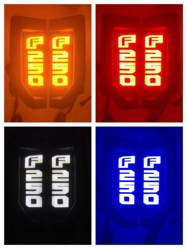 Lighting - Emblems, Badges & Inserts - Recon Truck Accessories - 264484CH | Illuminated Emblems in Chrome