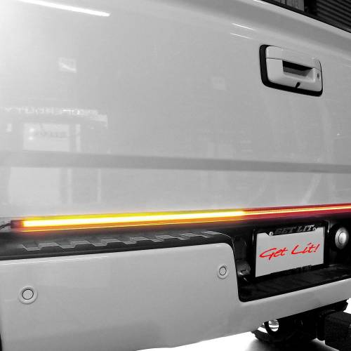 """Lighting - LED Tailgate Bars - Recon Truck Accessories - 26416XHP   60"""" Tailgate Bar w/ Ultra High-Power Dual Row LED, Amber """"Scanning"""" LED Turn Signals & Red LED Brake/Running Lights & White LED Reverse Light"""