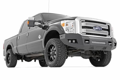 Exterior - Bumpers & Tire Carriers - Rough Country Suspension - 10783 | Ford Heavy Duty Front LED Bumper