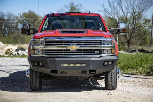 Exterior - Bumpers & Tire Carriers - Rough Country Suspension - 10782 | Chevrolet Heavy Duty Front LED Bumper