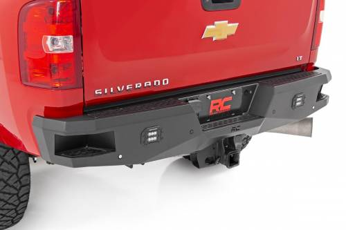 Exterior - Bumpers & Tire Carriers - Rough Country Suspension - 10779 | Chevrolet Heavy Duty Rear LED Bumper