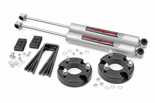 Suspension - Suspension Lift Kits - Rough Country Suspension - 52230 | 2 Inch Ford Lift Kit w/ Strut Spacers, Premium N3 Shocks