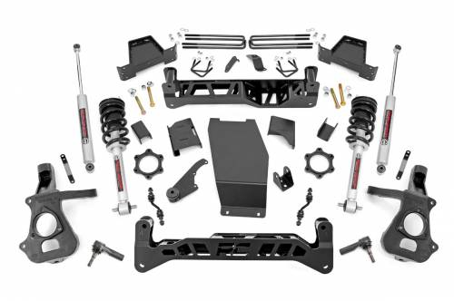 Suspension - Suspension Lift Kits - Rough Country Suspension - 17423 | 7 Inch GM Suspension Lift Kit w/ Lifted Struts & N3 Shocks